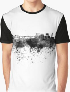 Luxembourg skyline in black watercolor Graphic T-Shirt