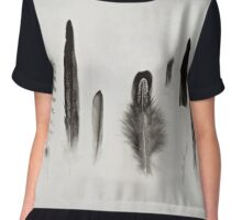 Feather Study no. 3 Chiffon Top