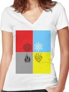 RWBY Symbols 2 Women's Fitted V-Neck T-Shirt