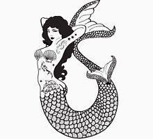 Mermaid With Tattoos Illustration Unisex T-Shirt