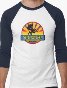 MOUNTAIN BIKE JACKSON WYOMING BIKING MOUNTAINS Men's Baseball ¾ T-Shirt