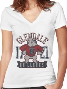 Pitbull Dog Women's Fitted V-Neck T-Shirt
