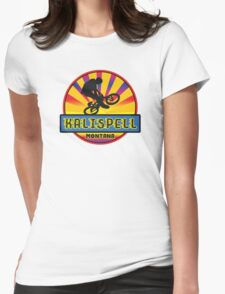 MOUNTAIN BIKE KALLISPELL MONTANA BIKING MOUNTAINS Womens Fitted T-Shirt