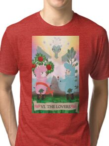 Tarot - VI The Lovers: Reese and Cyrus ACNL Tri-blend T-Shirt