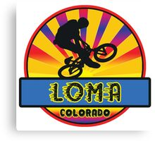 MOUNTAIN BIKE LOMA COLORADO BIKING MOUNTAINS Canvas Print