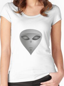emoji Aliens Women's Fitted Scoop T-Shirt