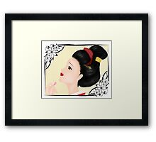 Japanese woman (A) Framed Print