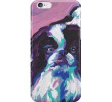 Japanese Chin Dog Bright colorful pop dog art iPhone Case/Skin