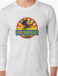 MOUNTAIN BIKE SUN VALLEY IDAHO BIKING MOUNTAINS Long Sleeve T-Shirt