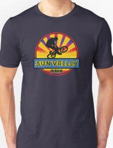 MOUNTAIN BIKE SUN VALLEY IDAHO BIKING MOUNTAINS Unisex T-Shirt