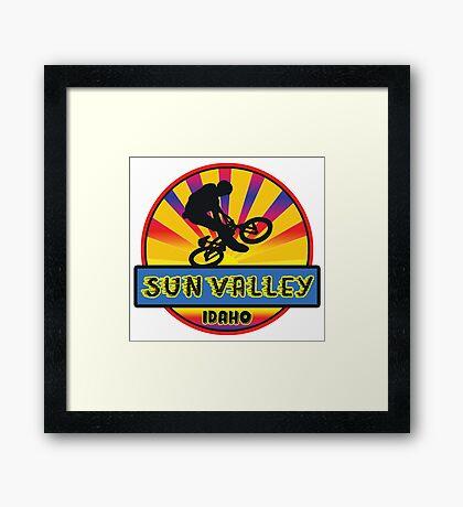 MOUNTAIN BIKE SUN VALLEY IDAHO BIKING MOUNTAINS Framed Print