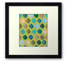 green diamonds Framed Print