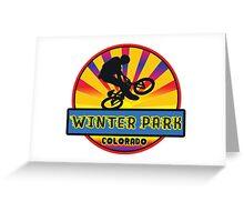 MOUNTAIN BIKE WINTER PARK COLORADO BIKING MOUNTAINS Greeting Card