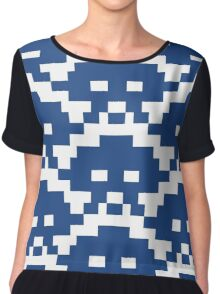 Blue Bit Space Invaders Chiffon Top