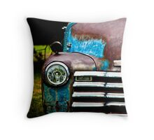 Vintage Blue Chevy Throw Pillow