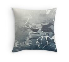 Blue Sea Marble Throw Pillow