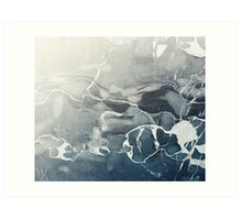 Blue Sea Marble Art Print