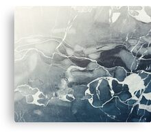 Blue Sea Marble Canvas Print