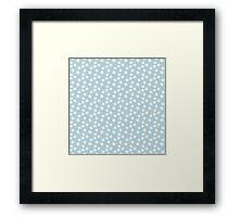 Elderflowers on baby blue Framed Print