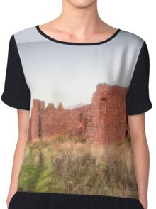 New Slains Castle Up Close (Cruden Bay, Aberdeenshire, Scotland) Chiffon Top