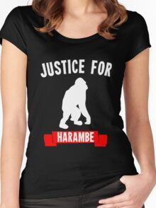 Justice for Harambe Women's Fitted Scoop T-Shirt