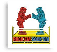 Rock'em Sock'em - 2D Original Text Variant Canvas Print