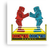 Rock'em Sock'em - 2D Original Text Variant Canvas Print