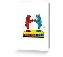 Rock'em Sock'em - 2D Original Text Variant Greeting Card