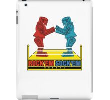 Rock'em Sock'em - 2D Original Text Variant iPad Case/Skin
