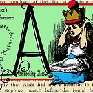 Alice in Wonderland and Through the Looking Glass Alphabet A by Samitha Hess Edwards