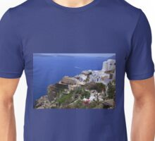 ....Poseidon smiles to you in Santorini... Unisex T-Shirt