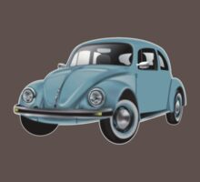 BEETLE, VW, Volkswagen, Bug, Motor, Car, Blue Baby Tee