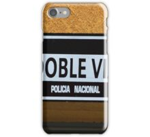 Two Way Traffic Sign iPhone Case/Skin