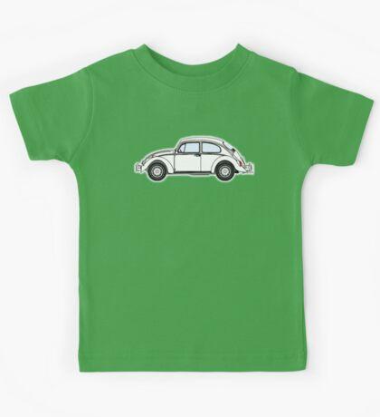 VW, Volkswagen, Beetle, Bug, Motor, Car, WHITE Kids Tee