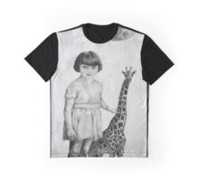 Full Moon Small Giraffe  Graphic T-Shirt