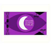 Night Vale Landscape Art Print