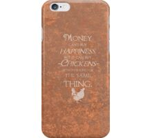 Rustic Style Chicken Wisdom iPhone Case/Skin