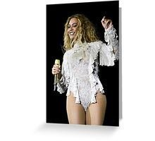 QUEEN B in White Greeting Card