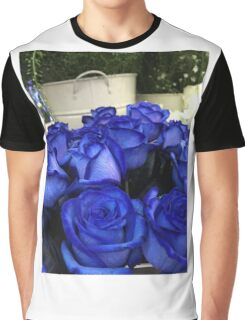 Roses are Blue Graphic T-Shirt