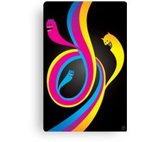 CMYK Monster Canvas Print
