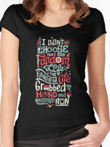 Fandom Life (black) Women's Fitted Scoop T-Shirt