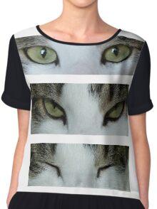 Cat's Eyes Chiffon Top