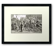 Victorian Style Congestion in London Framed Print