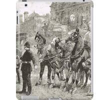 Victorian Style Congestion in London iPad Case/Skin