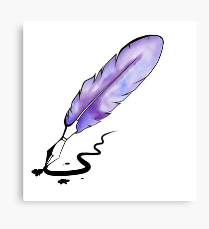 Watercolor Quill Pen Canvas Print