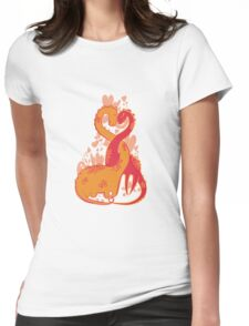 Prehistoric dinos love Womens Fitted T-Shirt