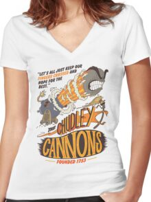 The Chudley Cannons Women's Fitted V-Neck T-Shirt