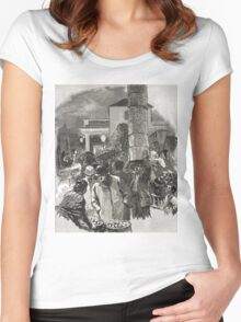 Covent Garden Market, London, England in the 19th Century Women's Fitted Scoop T-Shirt