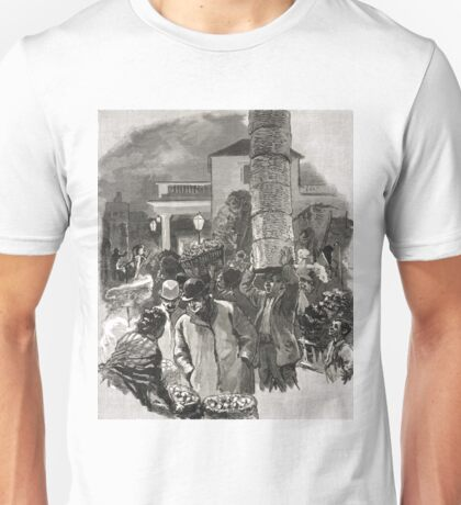 Covent Garden Market, London, England in the 19th Century Unisex T-Shirt