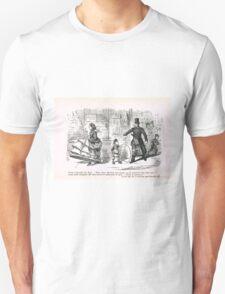 Misunderstanding with the law 19th Century cartoon by John Leech Unisex T-Shirt